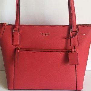 2Pc Kate Spade Cameron St Red Shoulder Bag & Charm